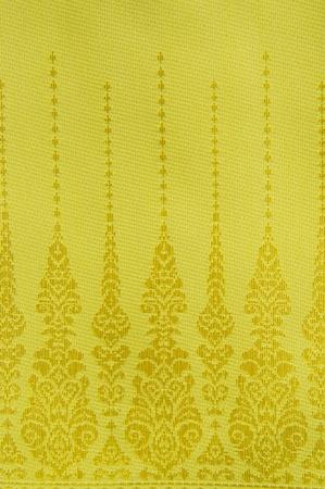 Thai golden pattern fabric
