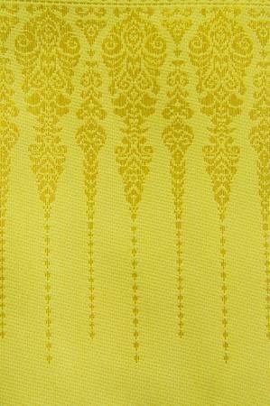 Thai golden fabric Stock Photo