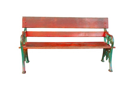 garden bench: Isolation wooden bench                Stock Photo