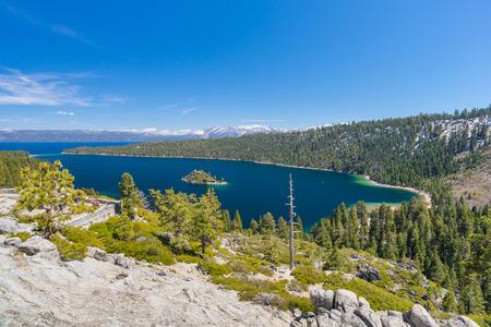 south lake tahoe: landscape of lake Tahoe, Emerald bay
