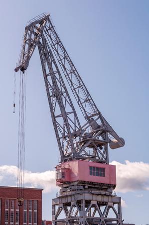 old port: old port crane Stock Photo