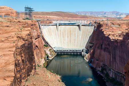 page arizona: Glen Canyon Dam near Page, Arizona Stock Photo