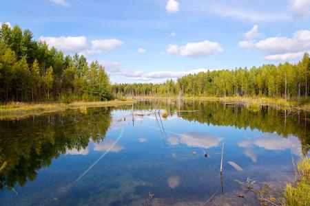 sever: landscape in Russky Sever National Park, Vologda region, Russia Stock Photo