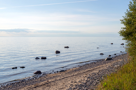 onega: shore of Lake Onega in the north-west European part of Russia