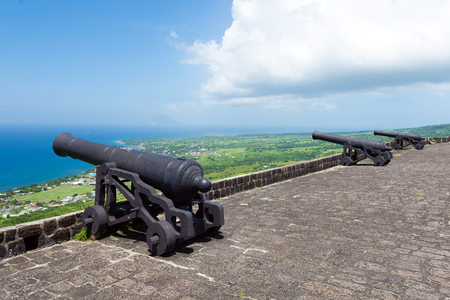 cannons at Brimstone hill fortress, island St. Kitts and Nevis Reklamní fotografie