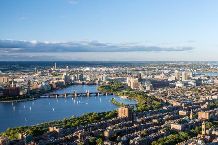 Boston city aerial view, USA Stock Photo