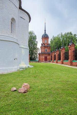 ancient building of kremlin in Volokolamsk, Moscow region, Russia
