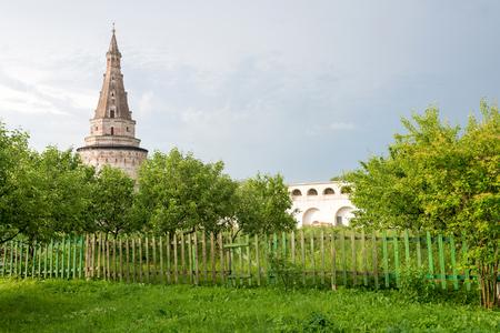 blacksmith: ancient tower of the Joseph-Volokolamsk Monastery, Moscow region, Russia