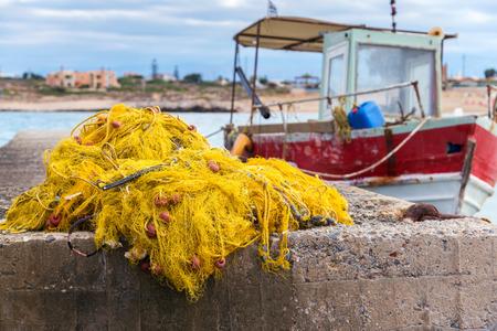 fishing nets, buoys and floats Stock Photo