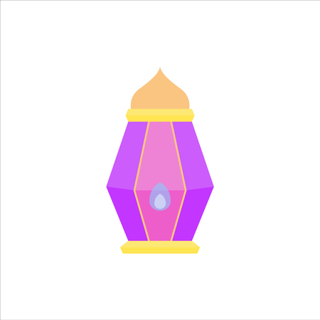 ramadan lantern can use for background and asset illustration with ramadan kareem and eid mubarak topic with pastel color and flat isolated design style