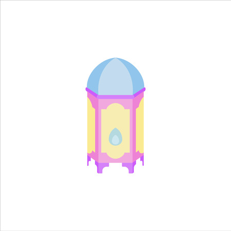 ramadan lantern set or collection can use for background and asset illustration with ramadan kareem and eid mubarak topic with pastel color and flat isolated design style