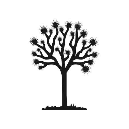Joshua tree vector isolated on white background