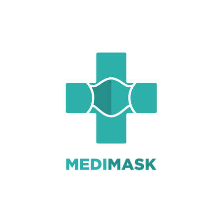mask vector logo template. logo suitable for preventive from virus
