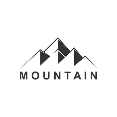 Mountain Peak, Mountain Logo Template. Vector Illustrator