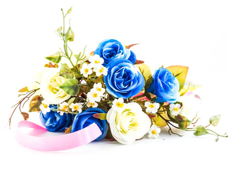 blue flowers isolated on a white background  photo