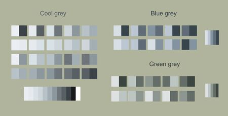 Big set pistachio matching color palettes trend. Beautiful gray green color design for interior ideas, fashion, fabrics and more themes design art. For designers and architects business.