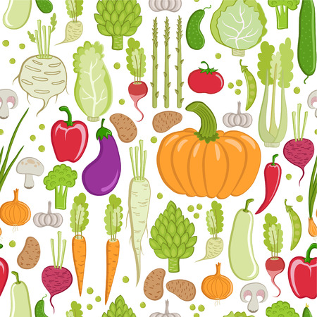 seamless pattern  healthy vegetable