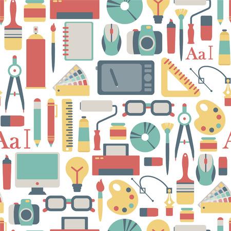 seamless, avec des graphiques des icônes du design Illustration