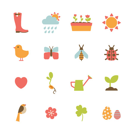 sprout: set of colorful spring icons Illustration
