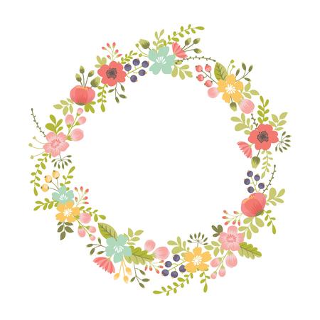 Round floral design element Illusztráció