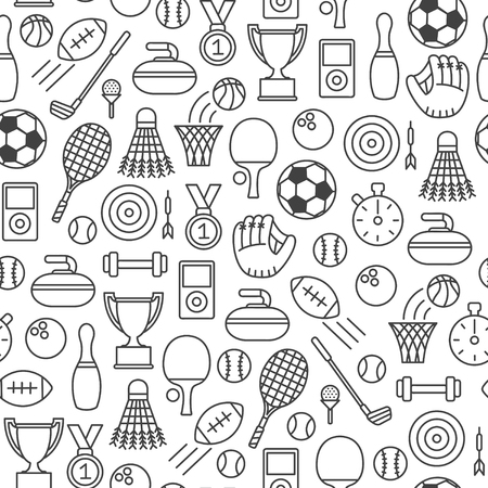 Seamless pattern with sport design element
