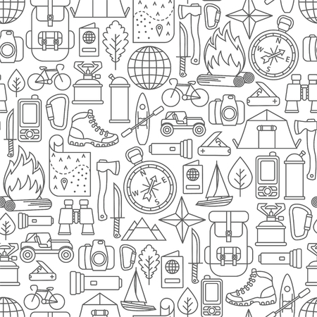 Seamless pattern with moving design elements
