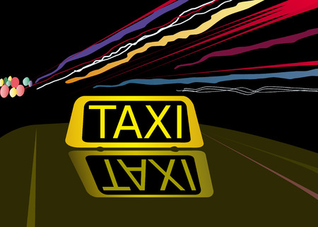 Night taxi Vector
