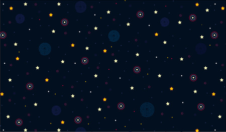 Seamless pattern of the sky, vector, textile, design, background, web