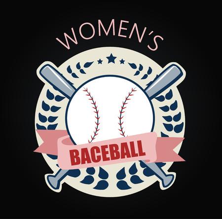 fast pitch: sport icon Baseballs illustration art