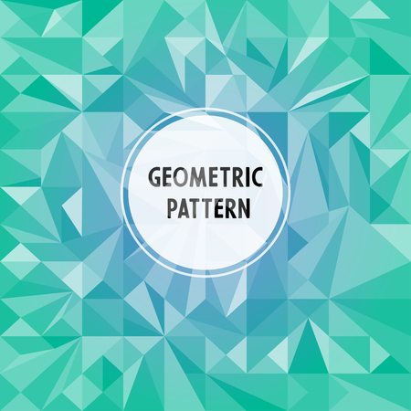 Vector asymmetric pattern with geometric shapes Illustration