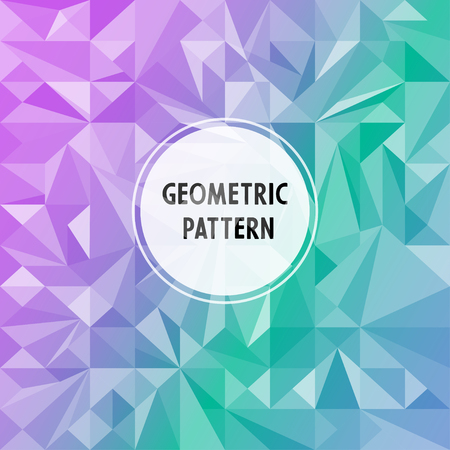 A Vector asymmetric pattern with geometric shapes