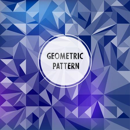 Vector asymmetric pattern with geometric shapes Ilustração