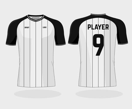Isolated football uniform on white background
