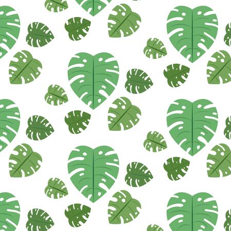 Vector seamless pattern of leaves on white backgroundVector seamless pattern of leaves on white background Ilustração
