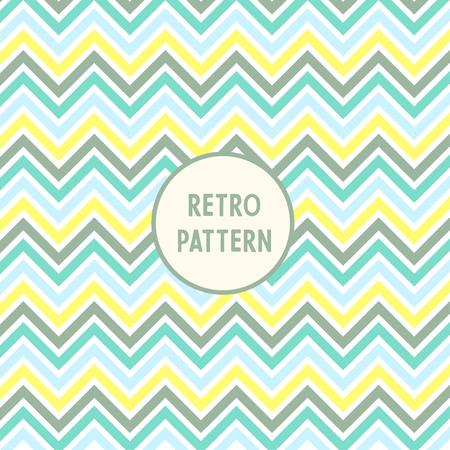 A Vector sharp wavy pattern illustration of different colors Ilustração
