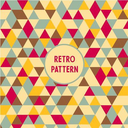 Vector retro triangle pattern. Geometric abstract texture. Ilustração