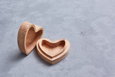 Heart made of beech wood. Jewelry box. Made on CNC machine
