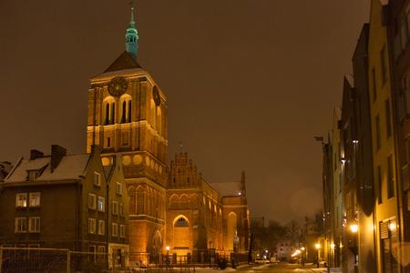 xv century: Gothic Church of St. John in old Gdansk (Danzig). Poland. The church was built in XIV-XV century. Stock Photo