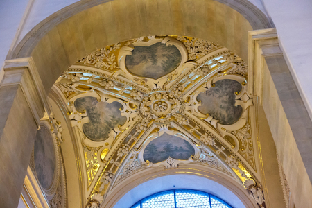 saints peter and paul: POLAND, KRAKOW - JANUARY 01, 2015: Decoration of ceiling of chapel in the Saints Peter and Paul Church (XVI-XVII century) in Krakow. The church perhaps the first Baroque building in present-day Poland Editorial
