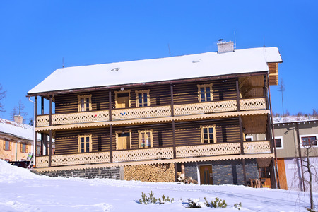 One of the old hotels in the Stary Smokovec. Is a popular resort for skiing and hiking in the Slovakia. Located in the mountains of the High Tatras at an altitude of 990 meters a.s.l.