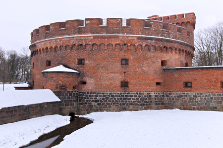 Tower of Der Dona, now museum of Amber. Part of the german defensive fortifications in the Konigsberg. After Second World War Konigsberg was called Kaliningrad and became part of Russia.