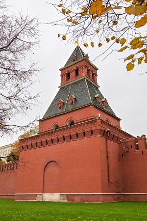 View of the Annunciation Tower. Is the tower of the wall of the Moscow Kremlin . Located in the southern part of the Kremlin wall. The tower was built presumably in 1487-1488. Editorial