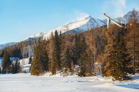 View of the Predne Solisko Mountain in Slovakia. The height of the peak is 2093 m and is the last peak of the Solisko comb (High Tatra Mountains).