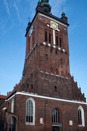 The building of the St. Catherine's Church. Is the oldest church in Gdansk, Poland. It was a Protestant confession from 1545 until 1945, after which it became a Roman Catholic.