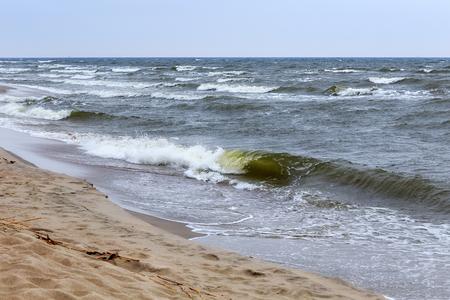 Beautiful seascape on the Baltic Sea coast.