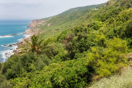 Beautiful view of the Atlantic Ocean and Northern Morocco coast, near Cape Spartel.