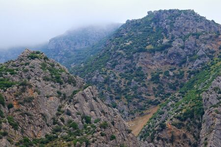 View of the mountains landscape near Chefchaouen, Northern Morocco.