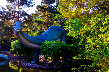 novosibirsk: dinosaur in the Park Stock Photo