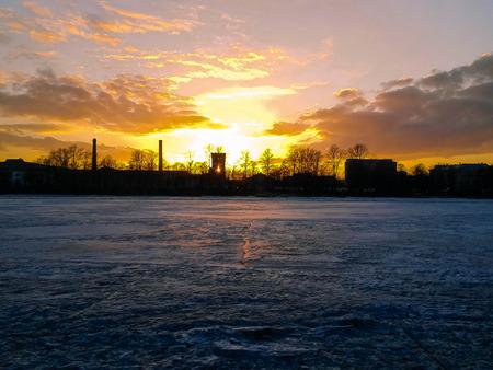 neva: sunset over the Neva