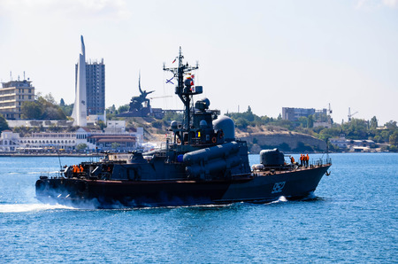 warship: Out to sea warship Sevastopol, Crimea